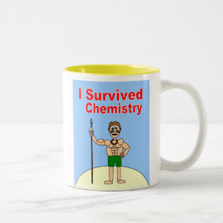 I Survived Chemistry Two-Tone Coffee Mug