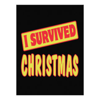 I SURVIVED CHRISTMAS CUSTOM ANNOUNCEMENT