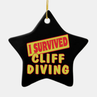 I SURVIVED CLIFF DIVING CERAMIC ORNAMENT