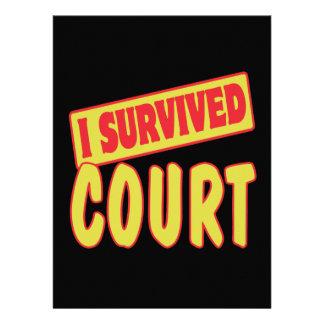I SURVIVED COURT CUSTOM INVITE