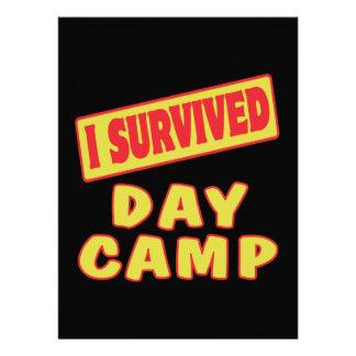 I SURVIVED DAY CAMP CUSTOM INVITATIONS