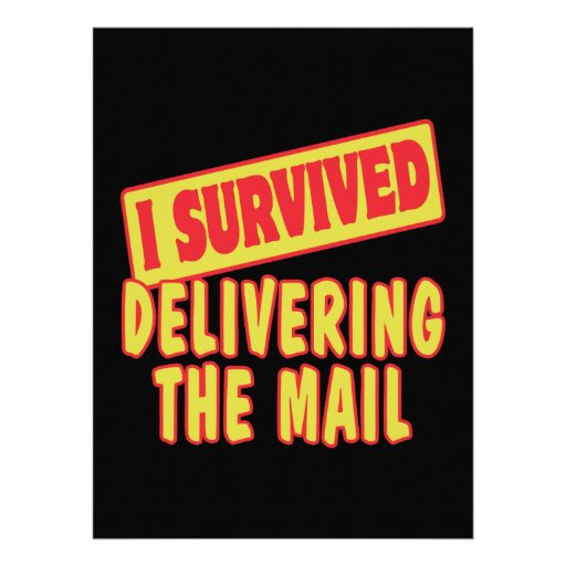 I SURVIVED DELIVERING THE MAIL CUSTOM ANNOUNCEMENTS