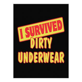 I SURVIVED DIRTY UNDERWEAR INVITATION