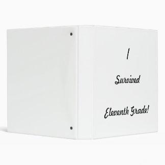 I survived Eleventh Grade! Vinyl Binder