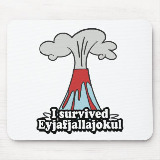 I survived Eyjafjallajokul Volcano Mouse Pad