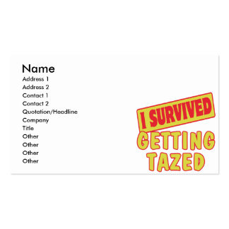 I SURVIVED GETTING TAZED BUSINESS CARD TEMPLATE