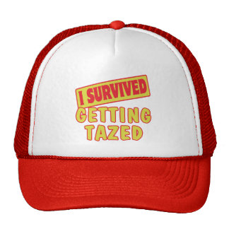 I SURVIVED GETTING TAZED TRUCKER HATS