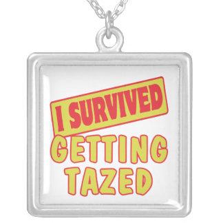 I SURVIVED GETTING TAZED PENDANTS