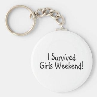 I Survived Girls Weekend Basic Round Button Keychain
