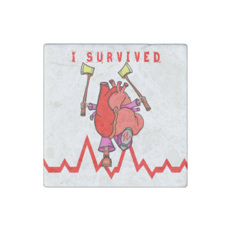 I survived heart trauma stone magnets