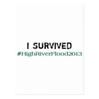 I Survived #HighRiverFlood 2013 Postcard