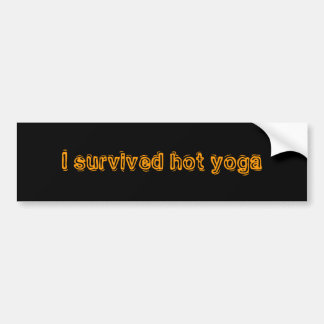 I survived hot yoga bumper sticker