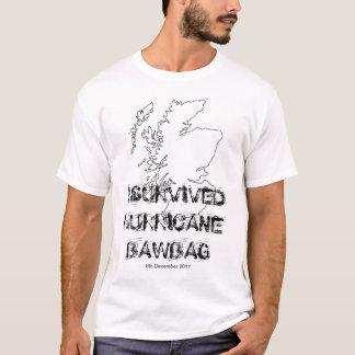 I Survived Hurricane Bawbag t shirt