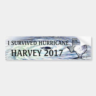 I SURVIVED HURRICANE HARVEY 2017 BUMPER STICKER