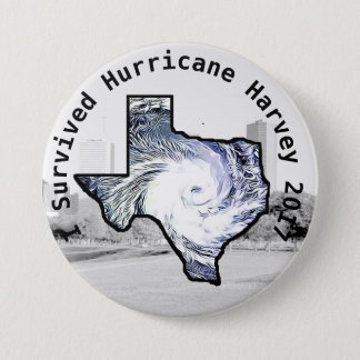 I Survived Hurricane Harvey 2017 Button