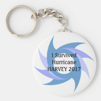 I Survived Hurricane HARVEY 2017 Button KEY CHAIN