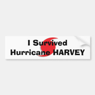 I Survived Hurricane HARVEY bumper sticker