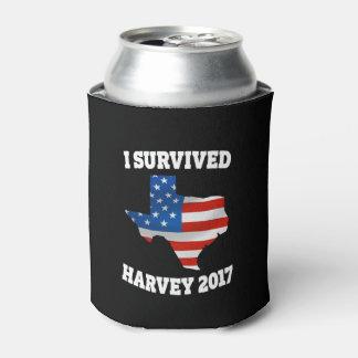 I survived Hurricane Harvey can cooler