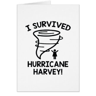 I Survived Hurricane Harvey Card
