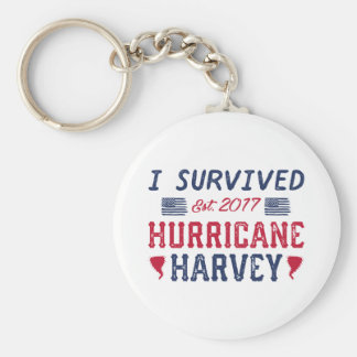 I Survived Hurricane Harvey Keychain