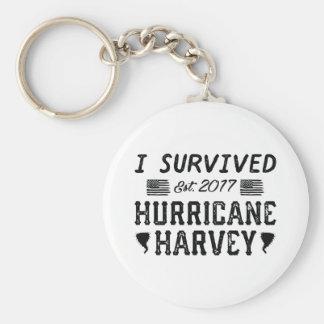 I Survived Hurricane Harvey Keychain