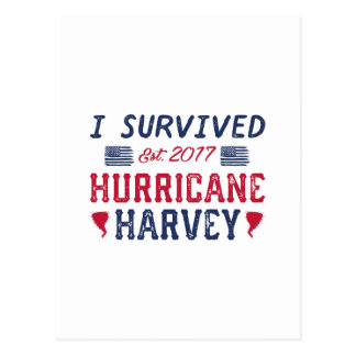 I Survived Hurricane Harvey Postcard