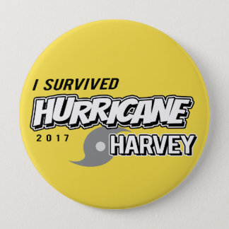 I Survived Hurricane Harvey Yellow Button
