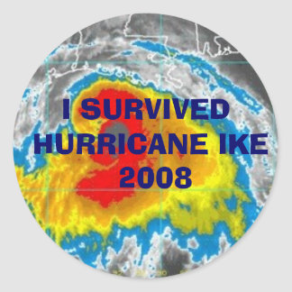 I SURVIVED HURRICANE IKE  2008 STICKERS