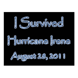 I Survived Hurricane Irene August 28,2011 Postcard