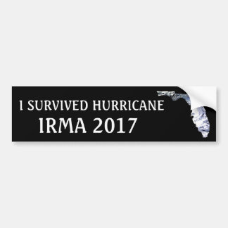 I SURVIVED HURRICANE IRMA 2017 BUMPER STICKER