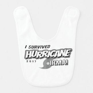 I Survived Hurricane Irma Baby Bib