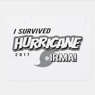 I Survived Hurricane Irma Baby blanket