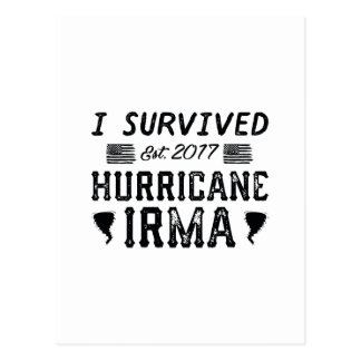 I Survived Hurricane Irma Postcard