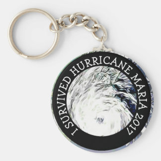 I Survived Hurricane Maria 2017 Key Chain