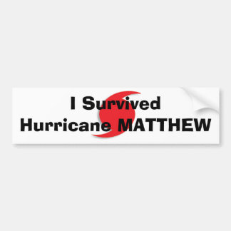 I Survived Hurricane MATTHEW Bumper Sticker