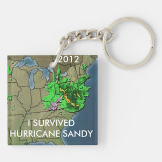 I SURVIVED HURRICANE SANDY KEYCHAIN