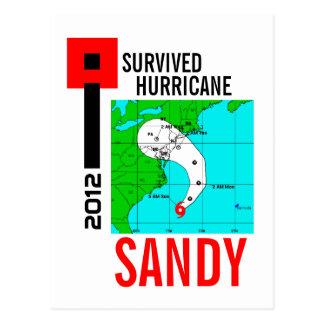 I Survived Hurricane Sandy Postcard 1