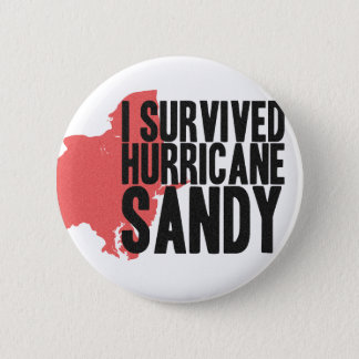 I Survived Hurricane Sandy  T-Shirt 2 Inch Round Button