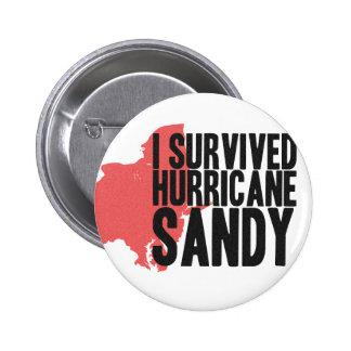 I Survived Hurricane Sandy  T-Shirt 2 Inch Round Button
