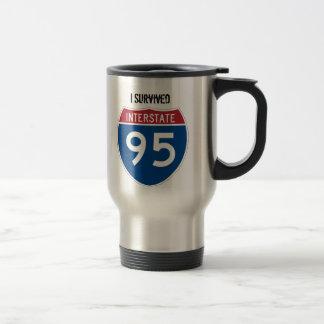 I Survived I-95 Stainless Steel Travel Mug