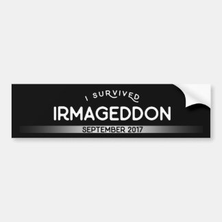I Survived Irmageddon Bumper Sticker