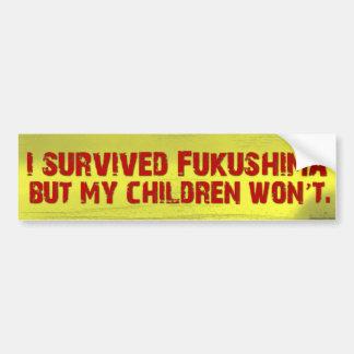 I Survived Jukushima Bumper Sticker