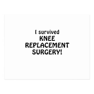 I Survived Knee Replacement Surgery Postcard