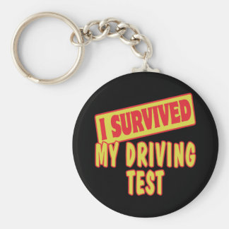 I SURVIVED MY DRIVING TEST KEYCHAIN