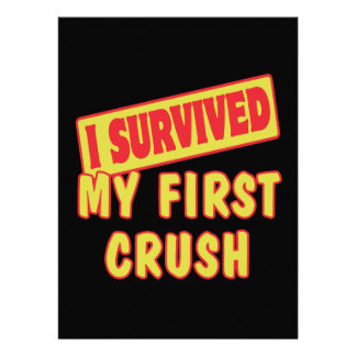 I SURVIVED MY FIRST CRUSH PERSONALIZED ANNOUNCEMENT