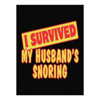 I SURVIVED MY HUSBANDS SNORING INVITE