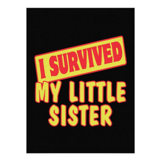 I SURVIVED MY LITTLE SISTER ANNOUNCEMENTS