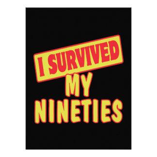 I SURVIVED MY NINETIES INVITE