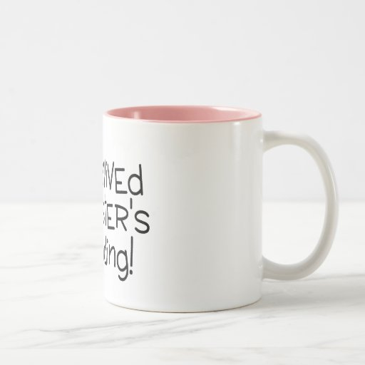 I Survived My Sister's Wedding Black Mugs