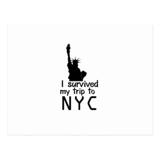 I Survived My Trip To Nyc Postcard
